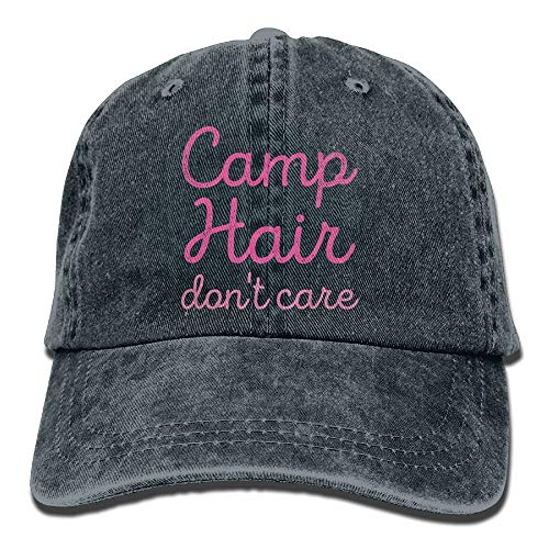 AAPPU Camp Hair Don't Care Denim Hat Adjustable Mens Plain Baseball Cap -