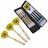 3x Softdarts / Darts / Dartpfeile mit Kunststoff-Spitze von TripleDarts für Softdart / E-Dart / elektronisches Dart | inkl. 3x Dart-Flights aus PET & hochwertiger Transportbox | 6x Spitzen | Gewicht des Darts: 18g | Gewindetyp: 2BA | perfekte Griffigkeit | geeignet für Anfänger, Hobby- und ambitionierte Spieler| Barrel aus Eisen | Aluminium-Shaft | Design: YellowSpider