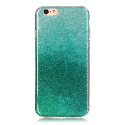Wkae Case Cover Für iPhone 6 &6s IMD Farbe Fades Glitter Puder TPU-Schutzhülle ( SKU : IP6G8686S ) IP6G8686M