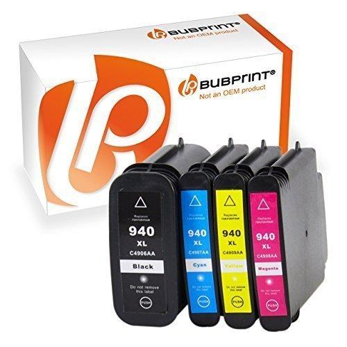Bubprint 4 Druckerpatronen kompatibel für HP 940 XL HP940XL 940XL HP940 XL für Officejet Pro 8000 Enterprise Wireless 8500 Premier 8500A Plus Premium