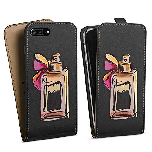 Apple iPhone 7 Silikon Hülle Case Schutzhülle Parfum Parfüm ohne Hintergrund Downflip Tasche schwarz