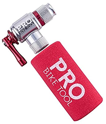 CO2 Inflator By PRO BIKE TOOL - Quick & Easy - Presta & Schrader Valve Compatible - Bicycle Tyre Pump For Road & Mountain Bikes - Insulated Sleeve - No CO2 Cartridges from Pro Bike Tool