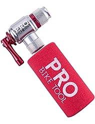 Pro Bike Tool – Pompe C02–Facile et rapide–Compatible valves Presta et Schrader–Pompe de pneu de vélo et VTT–Manche isolé–sans cartouches de CO2