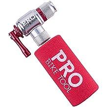 CO2inflador por PRO–Herramienta de bicicleta rápido y fácil–Válvula presta y schrader Compatible–Bomba para neumáticos de bicicleta para carretera y bicicletas de montaña–con aislamiento manga–Cartuchos de CO2de no incluido