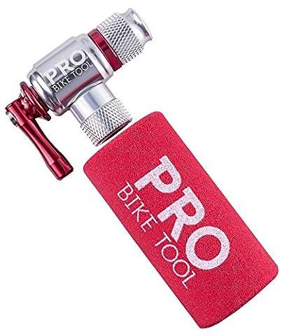 CO2-Inflator von PRO BIKE TOOL - Schnell und Einfach - Presta & Schrader Ventil Kompatibel - Kartuschenpumpe für Rennrad & Mountain-Fahrräder - Isolierte Hülle - Keine CO2 Kartuschen enthalten