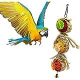 Meiyiu Bird Parrot Toys Swing Balls Hanging Pet Bird Bites Climb Chew Toys