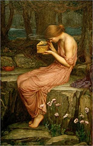 Poster 20 x 30 cm: Psyche Opening the Golden Box by John William Waterhouse / akg-images - high quality art print, new art poster