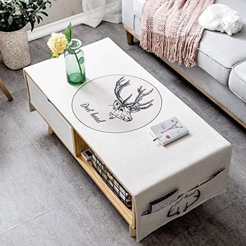 Nordic Living Room Couchtisch Tischdecke Stoff Baumwolle Kleine Frische Rechteckige TV Schrank...