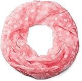 styleBREAKER Punkte Muster Loop Schlauchschal, seidig leicht, Tuch, Damen 01016111, Farbe:Vintage meliert Koralle-Weiß