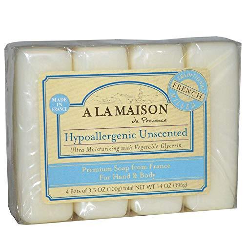 A La Maison Pains de savon ultra-hydratant Oat Milk - Au lait d'avoine, à l'huile d'argan et au beurre de karité - Super Value Pack - 100 g (Paquet de 4 savons)