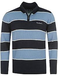 "Pull 1/4 zip Pierre CARDIN modèle ""Striped"" (Taille grand)"