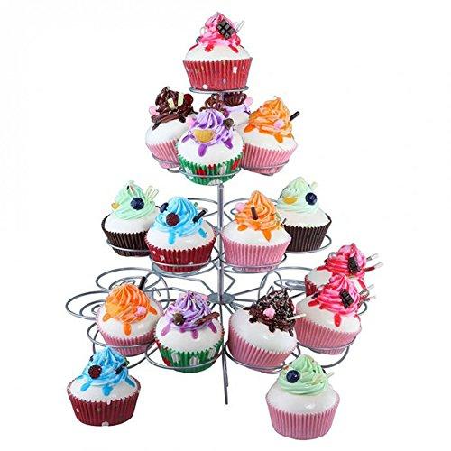 Kurtzy 4 Niveles Soporte Cupcakes - Metal Expositor Cupcakes con Capacidad para 23 Magdalenas y 30cm de Alto - Magdalena Soporte para Para Bodas, BabyShowers y Fiestas - Cupcake Stand