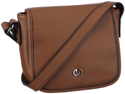 GERRY WEBER Moviestar Flap Bag S 4080001159, Damen Umhängetaschen, Beige (cognac 703), 19x16x8 cm (B x H x T) Beige (cognac 703)