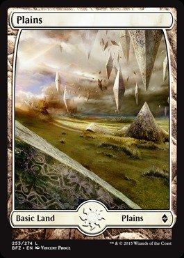 Magic: The Gathering Plains (253) (253/274) Battle For Zendikar Foil