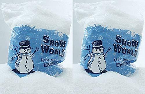 Novaliv Kunstschnee 1500 g im Beutel Dekoschnee zum Streuen und Basteln Artificial Snow Fake Snow 35cm