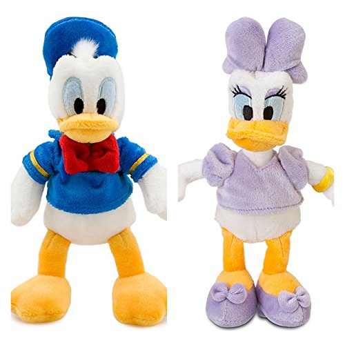 Disney DONALD DUCK und DAISY Mini-Bean-Bag Stoffpuppe Plüschtier Set 20cm - Mini-bean-bag