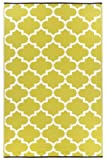 Kitchen & Housewares : Fab Hab - Tangier - Celery & White Indoor Outdoor Rug/Mat (90 cm x 150 cm)