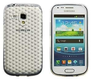 Luxburg® Housse Etui Coque Samsung Galaxy S Duos silicone case TPU Blanc cristal de roche