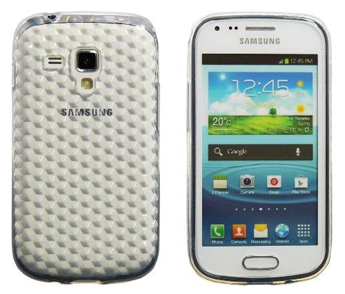 Luxburg® Diamond Design Schutzhülle für Samsung Galaxy S Duos GT-S7562 in Farbe Bergkristall Weiß, Hülle Case aus TPU Silikon