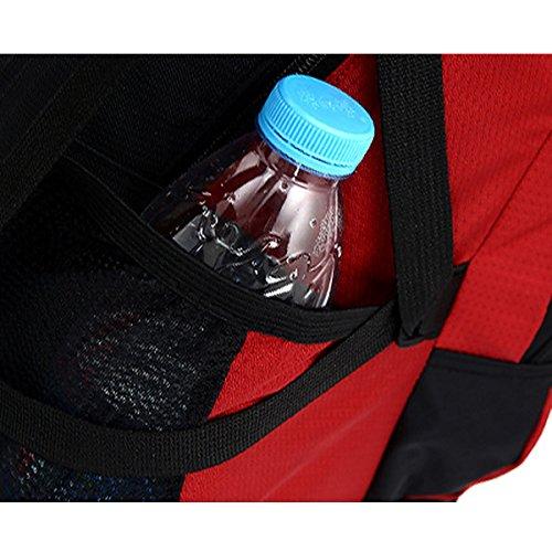 All'aperto Viaggio Le spalle Sport Ciclismo arrampicata Escursionismo Impermeabile Campeggio Zaino (Rosso) Blu