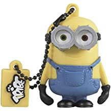 Tribe Los Minions Despicable Me Bob - Memoria USB 2.0 de 8 GB Pendrive Flash Drive de goma con llavero, color amarillo