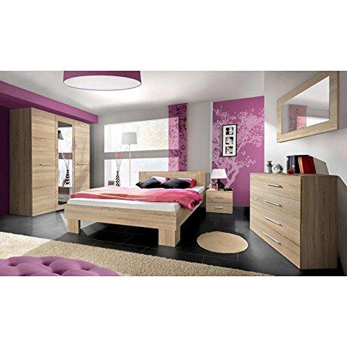 Justhome vicka ii 140 camera da letto completa camera matrimoniale sonoma guercia