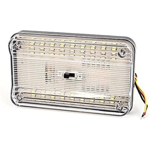 Blanco 36 LED Coche Cúpula Roof Techo Lámpara Interior