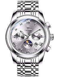 Hermosos Relojes tevise Reloj de los Hombres Reloj mecanico automatico de Acero con Hollow Moda Reloj