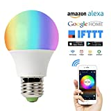 VOBOT Wi-Fi Smart LED Light Bulbs Alexa,4.5W Dimmable Multicolor RGBW 60W Equivalent,High Brightness 450LM Smart Wifi Alexa LED Bulbs Energy-saving Bulb Lights No Hub Required Works with Amazon Alexa,Google Home Assistant and IFTTT - 1 Pack