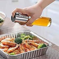 Glomixs Olive Oil Sprayer Dispenser Vinegar Glass Bottle for Cooking Baking Roasting Grilling