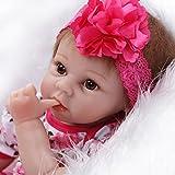 ZIYIUI 22 '' Reborn Muñecas de bebé Renacer de Silicona Suave Realista Real Niña Bebe Recién Nacido Muñecas Regalos Ropa bebé Reborn magneticores Chupete Juguete(55cm)para La Edad 3+