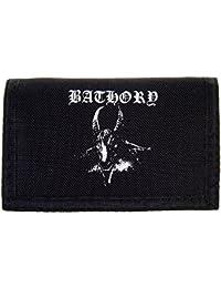 Bathory Goat Portefeuille Imprimé Démon (Noir)