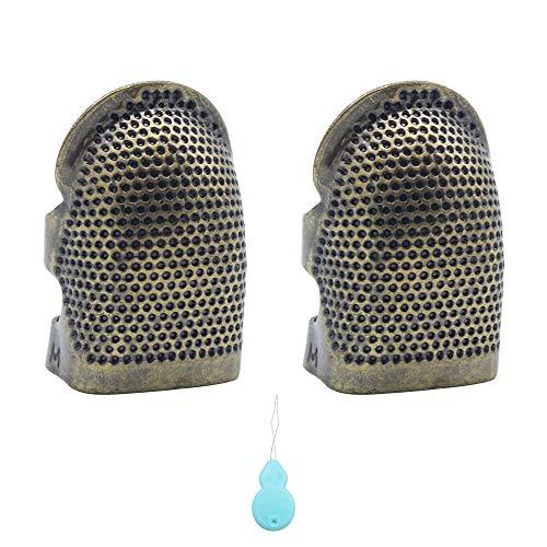 LumenTY Protector dedos costura 2 piezas Dedal cobre