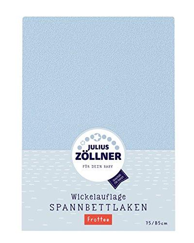 Julius Zöllner 8390449310 Spanntuch für die Wickelauflage, 75 x 85 cm, Frottee, hellblau