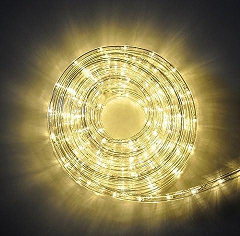Flex Lichterschlauch Lichtschlauch Licht Schlauch Warmweiß Auswahl Partylicht, Länge:18 m