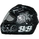 Protectwear   Casque de Moto Intégral avec la Conception 99, Noir Mat, Taille S