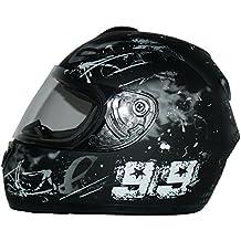 Protectwear Casco de moto negro / gris 99 FS-801-99 Tamaño M