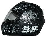 protectWEAR Moto casco nero/grigio Disegno 99 FS-801-99, Taglia S