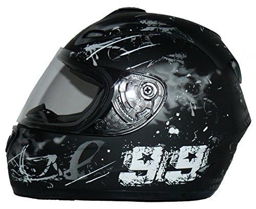 Protectwear Casco de moto negro/gris 99 FS-801-99 Tamaño M