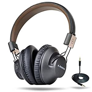 [2016] Avantree LOW LATENCY Bluetooth 4.1 Over Ear Headphones | 40h Music Time | Foldable, NFC | Headset with Microphone | Wireless / Wire Dual Mode | Ideal for TV, PC, Music, Gaming - Audition Pro