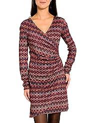 SMASH Avelina Vestido Estampado Con Fruncido-A1682310, Robe de Chambre Femme