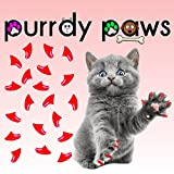 Purrdy Paws 40-Pack Soft Nail Caps For Cat Claws RED * KITTEN Brand