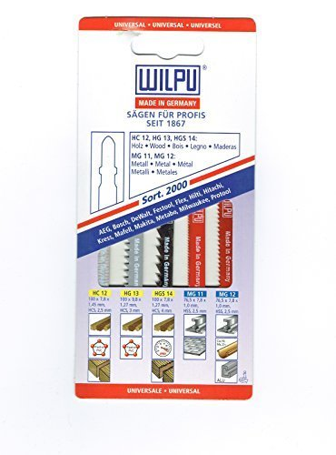 10 teiliges lama per seghetto alternativo-Set di legno/plastica, di Bosch, seghetto alternativo xfolgi