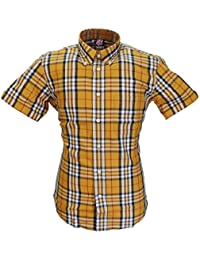 Warrior Mustard Lydon 100% Cotton Short Sleeved Shirts Small to 5Xlarge