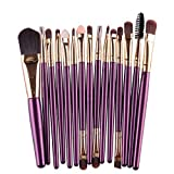 MRULIC 22pcs Make UP Pinsel Pinselset Schminkpinsel Kosmetikpinsel Kosmetik Brush (L-15Stück)