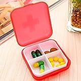 Pindia Random Color Cross four-frame kit portable kit drug Pill storage box