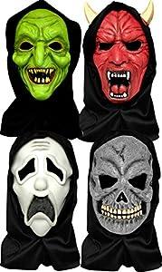 Aptafêtes-mahal287-Máscara Halloween completo cara con pasamontañas adulto PVC-talla única
