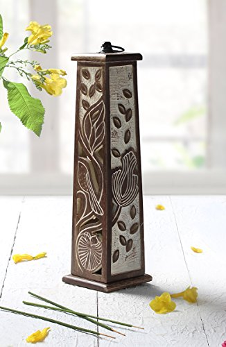 Valentine Day Handcrafted Wooden Tower Incense Stick Cone Holder with White Dress...