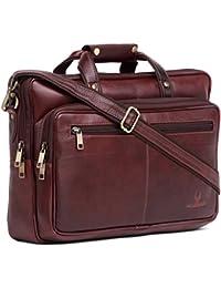 WildHorn 100% Genuine Leather Laptop Messenger Bag.