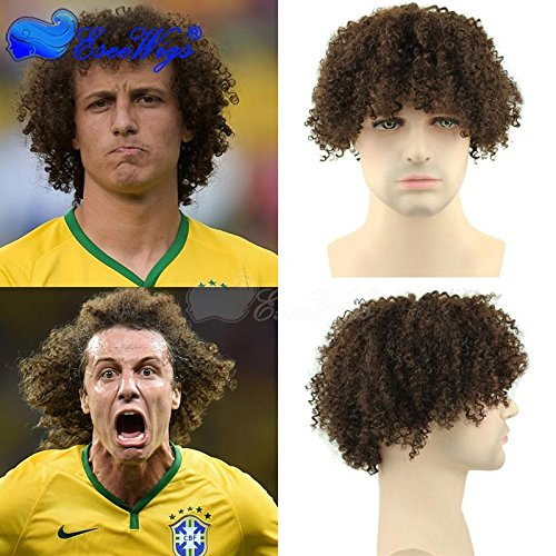 Eseewigs corta Kinky rizado peluca de pelo humano verdadero afro rizado pelucas...